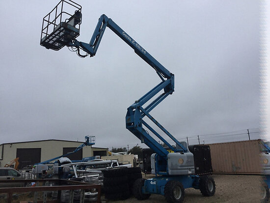 2004 Genie Z-60/34 4x4 Self-Propelled Articulating & Telescopic Manlift runs, operates