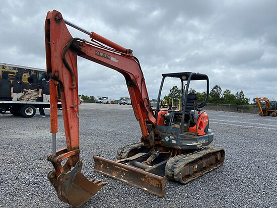2008 Kubota KX161-3ST Mini Hydraulic Excavator not running, condition unknown, missing parts, minor