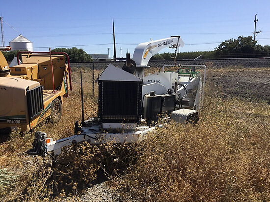 "2009 Altec DC912A Chipper (12"" Disc), trailer mtd No Title) (starts and runs and operates, hrs unrea"