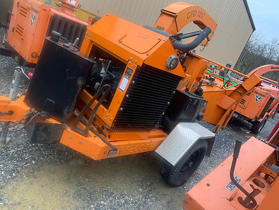 "2010 Altec Environmental Products CFD1217 Chipper (12"" Drum), trailer mtd not running, cranks, would"