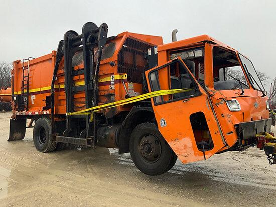 2007 Crane Carrier Co. Tilt Cab Low Entry Refuse/Trash Truck Not running, hour meter, odometer not w