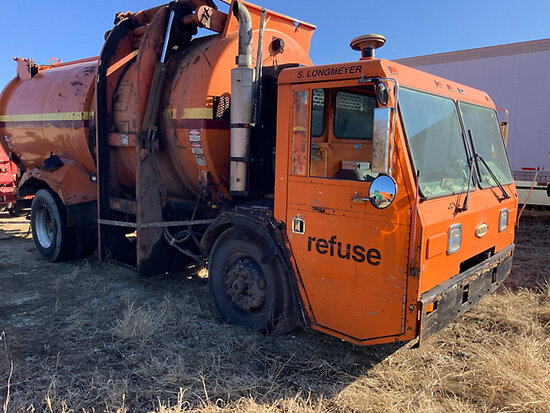 2001 Crane Carrier Co. Tilt Cab Low Entry Refuse/Trash Truck Not running, condition unknown, missing