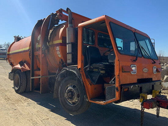 2000 Crane Carrier Co. Tilt Cab Low Entry Refuse/Trash Truck not running, missing parts, condition u