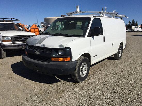 2006 Chevrolet G3500 Cargo Window Van Runs and drives, paint peeling on hood, passenger side, and re
