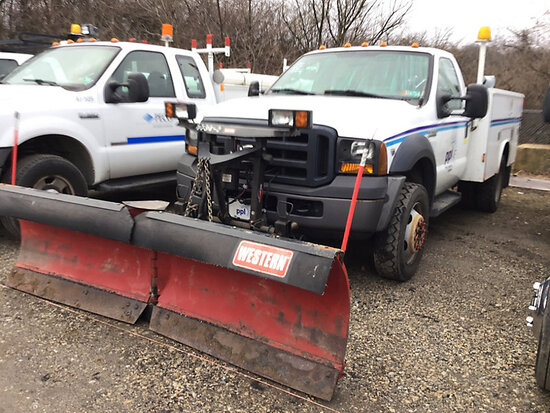 2007 Ford F450 4x4 Enclosed Service Truck plow control in office
