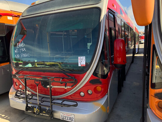 2005 NABI 60B.O1 Passenger Bus Dismantler Only, Located off Site (MTA 970 W Chester Bl Long Beach) A