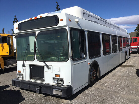 2004 New Flyer F450LF HYBRID Bus, Hydrogen Liensale Documents, non runner, stripped of parts