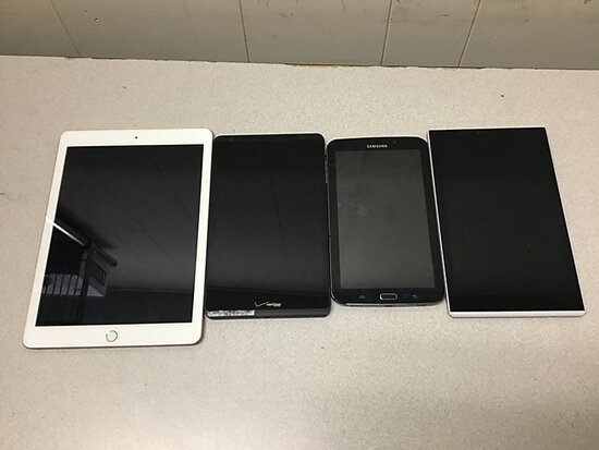 Ipad and various Tablets (Possibly locked Possibly locked, no chargers, some damage