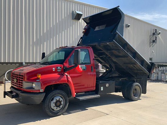"""2004 Chevrolet C4500 Dump Truck Runs and drives, dump bed sand blasted and painted in 2011, 3/4"""" bed"""