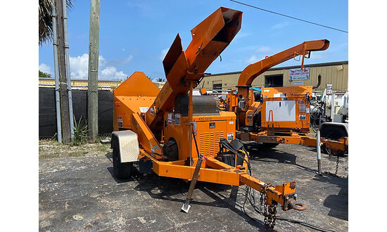 """2010 Altec Environmental Products WC126 Chipper (12"""" Drum), trailer mtd engine starts and runs, oper"""
