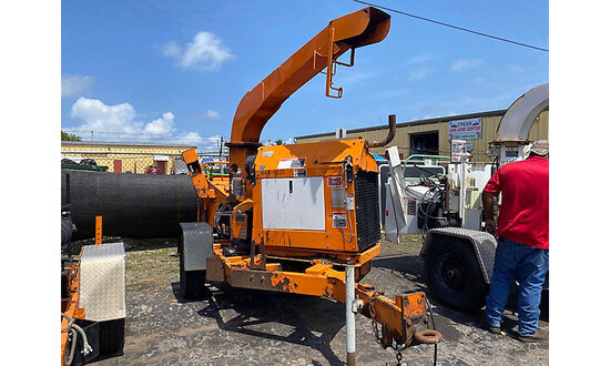 """2011 Altec Environmental Products DC1317 Chipper (13"""" Disc), trailer mtd not running, condition unkn"""