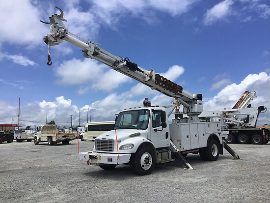 Altec DC47-TR, Digger Derrick rear mounted on 2014 Freightliner M2 106 Utility Truck runs, drives &