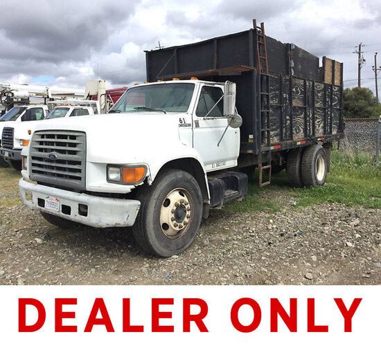 1999 Ford F800 Flatbed/Dump Truck turns over won't fire, drive line removed