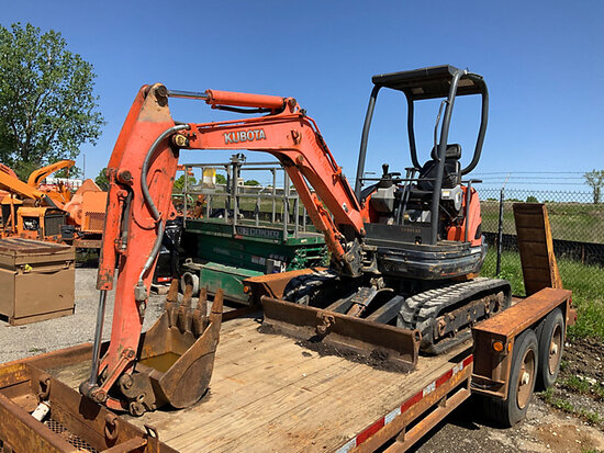 2011 Kubota U25 Mini Hydraulic Excavator, To sell with trailer lot tr912 does not start, not running