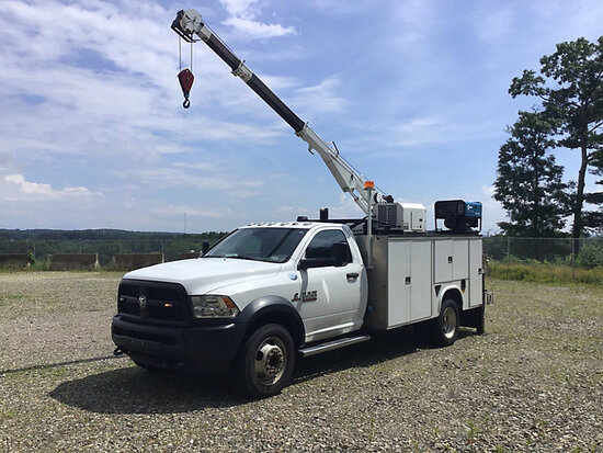 2016 Dodge-RAM D5500HD Mechanics Service Truck runs, drives, crane operates
