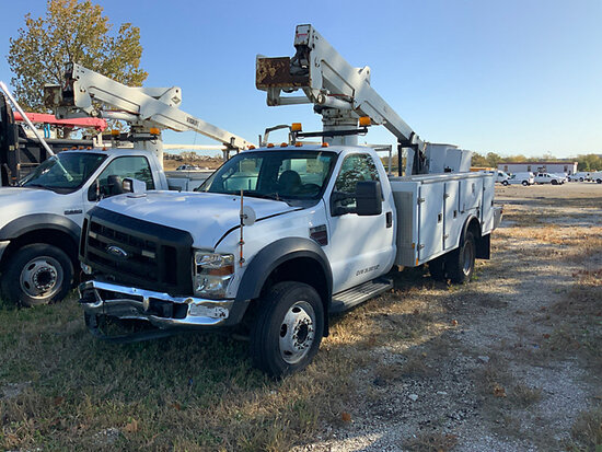 Versalift SST37ENH, Articulating & Telescopic Bucket Truck mounted behind cab on 2008 Ford F550 Serv