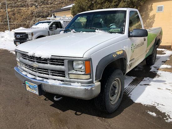 1998 Chevrolet K2500 4x4 Pickup Truck runs & drives, missing tailgate