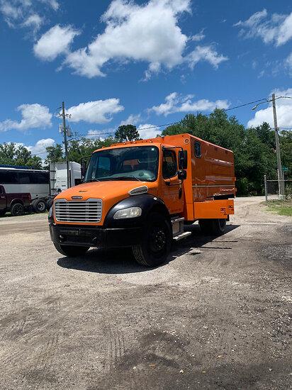 2011 Freightliner M2 106 Chipper Dump Truck starts, runs, drives & dump operates