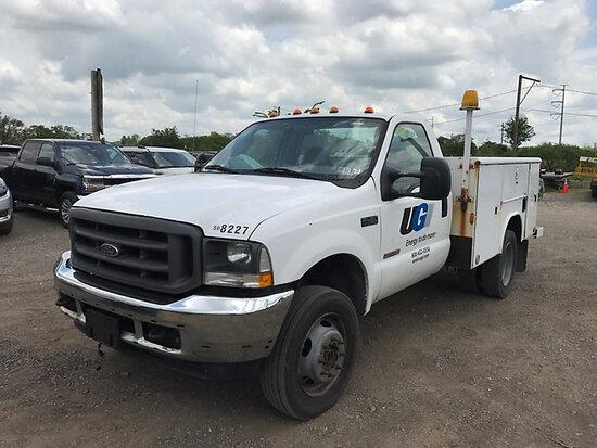 2004 Ford F450 4x4 Service Truck runs & drives