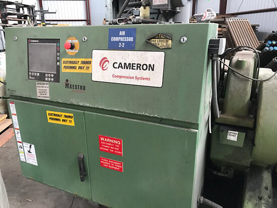 Cameron Air Compressor Model TA2000 operating when disconnected for sale