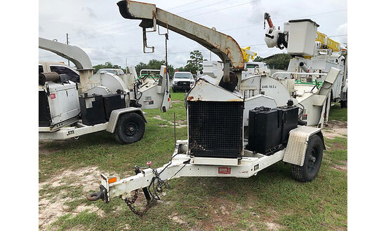 "2011 Altec Environmental Products DC1317 Chipper (13"" Disc), trailer mtd starts, runs & operates, mi"