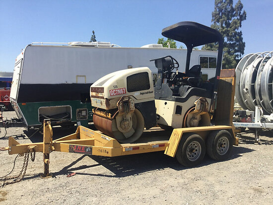 1991 Ingersoll Rand DD24 Vibratory Roller, To Be Sold with Lot# tr397 (**Note** Equipment and traile