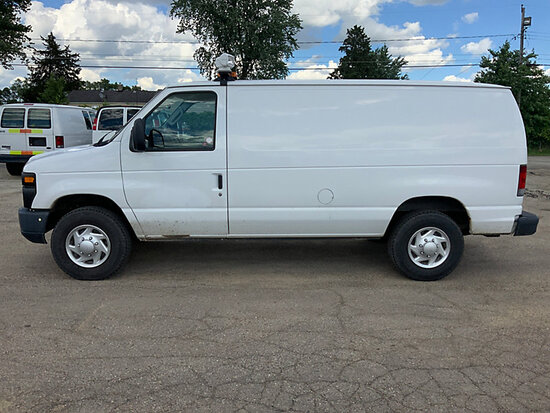 2011 Ford E350 Cargo Van runs and drives, power steering issues, rust damage