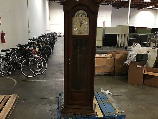 Large grandfather clock (Used Has Damage) NOTE: This unit is being sold AS IS/WHERE IS via Timed Auc