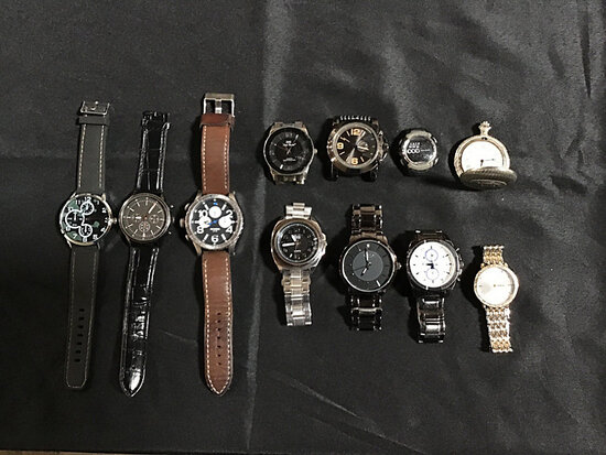 11 assorted watches (Used ) NOTE: This unit is being sold AS IS/WHERE IS via Timed Auction and is lo