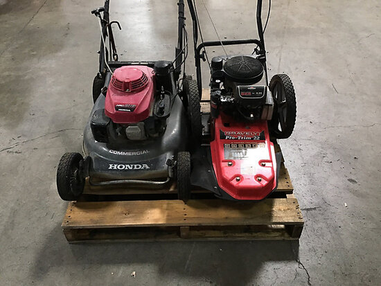1 Honda Hydrostatic mower | 1 gravelyPro-trim 22 push mower (Used ) NOTE: This unit is being sold AS