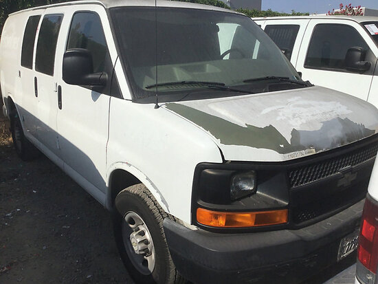 2007 Chevrolet G2500 Cargo Van non runner, will not start, stripped of parts, paint damage