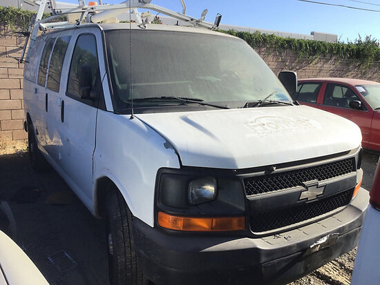 2007 Chevrolet G2500 Cargo Van non runner, no key, stripped of parts, paint damage