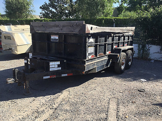 2005 Snake River T/A Dump Trailer, 19ft x 8ft 9in x 5ft 7in Rust damage, no public buyer, bill of sa