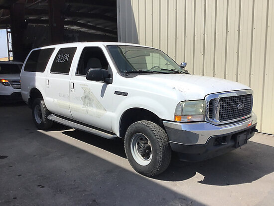 2002 Ford Excursion 4x4 4-Door Sport Utility Vehicle may be subject to arb regulations, Runs and dri