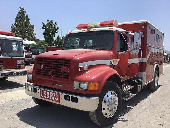 1993 INTERNATIONAL 4300 Fire Truck Runs and drives, subject to arb regulations