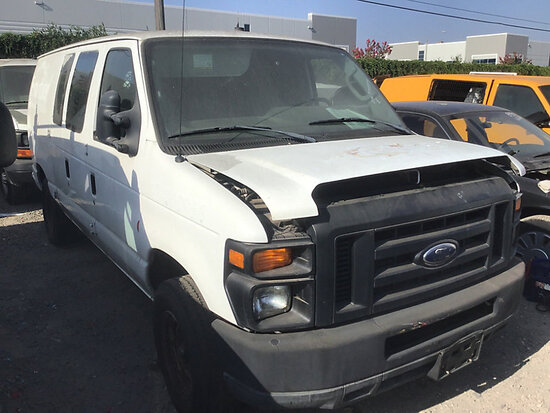 2010 Ford G2500 Cargo Van non runner, no key stripped of parts, paint damage, cng tanks expire April