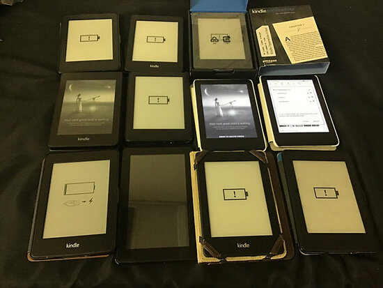 11 kindles | possibly locked (Used) NOTE: This unit is being sold AS IS/WHERE IS via Timed Auction a