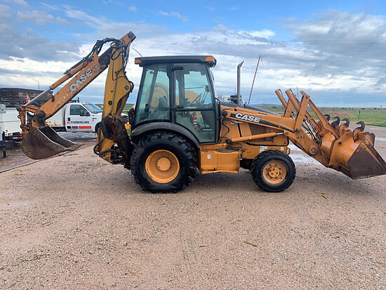 (Brewster, NE) 2002 Case 580 Super M 4x4 Tractor Loader Extendahoe runs-operates