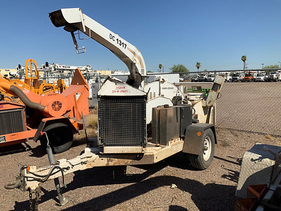 """2012 Altec Environmental Products DC1317 Chipper (13"""" Disc), trailer mtd runs and operates"""
