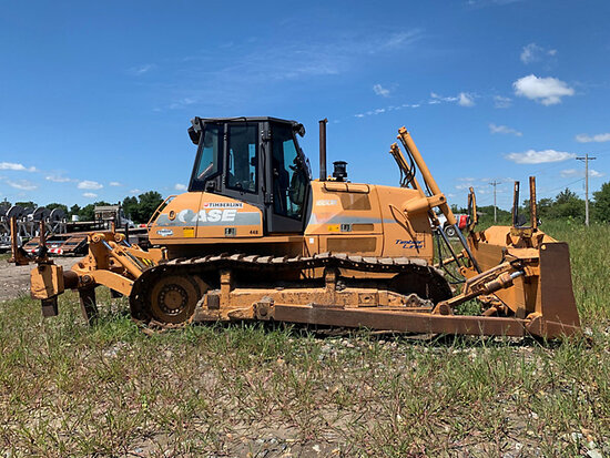 (Burwell, NE) 2005 Case 1850K Crawler Tractor runs-operates, dent in cab, hour meter replaced