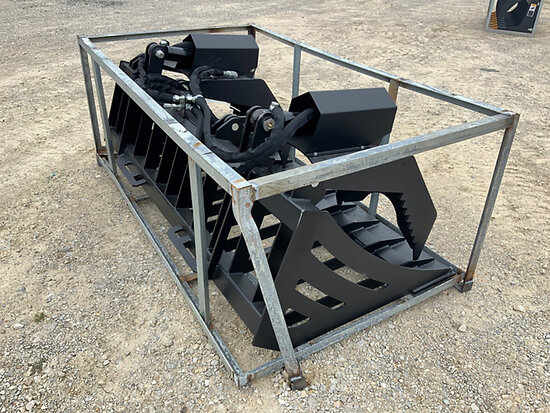 (Wright City, MO) 2020 SUIHE 72 in Skid Steer Hydraulic Rock Grapple Bucket (New/Unused) NOTE: This
