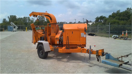 """2010 Altec Environmental Products DC1317 Chipper (13"""" Disc), trailer mtd No Title, not running, cond"""
