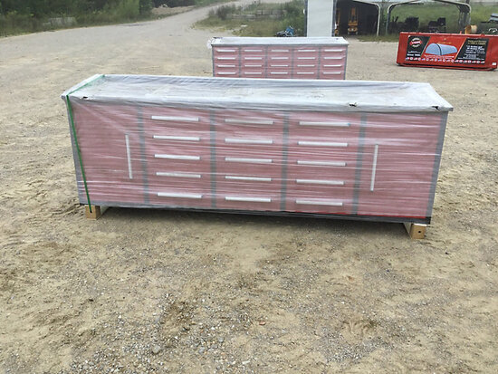 (Wright City, MO) 2020 Steelman 10 ft Work Bench with 15 Drawers & 2 Cabinets (New/Unused) NOTE: Thi