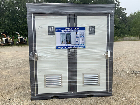 (Wright City, MO) 2020 Bastone 110V Portable Toilet with Double Closestools (New/Unused) (Water inle