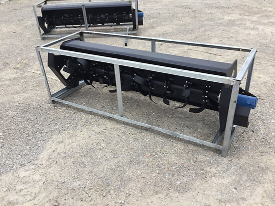 (Wright City, MO) (1) 2020 Great Bear skid mounted rotary Cultivator (New/Unused) NOTE: This unit is