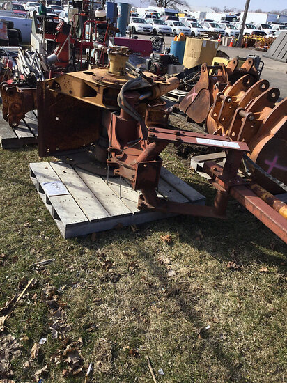 Case Trencher Attachment (missing boom and chain) NOTE: This unit is being sold AS IS/WHERE IS via T