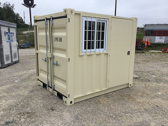 (Wright City, MO) 2020 8 ft L x 6 ft 5 in W x 7 ft 2 in H Steel Container with door & window (New/Un
