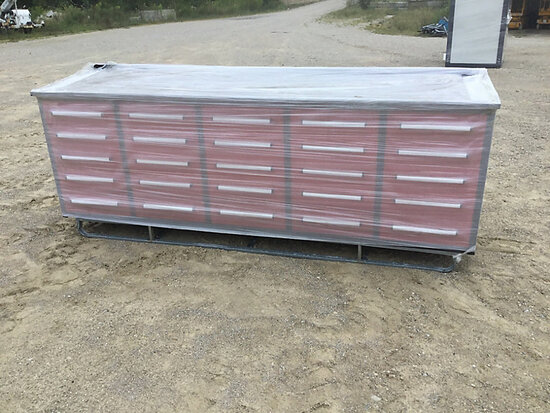 (Wright City, MO) 2020 Steelman 10 ft Work Bench with 25 Drawers (New/Unused) NOTE: This unit is bei