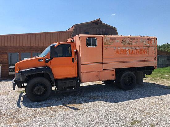 2005 GMC C6500 Chipper Dump Truck starts, runs rough, drives & operates