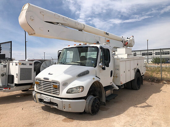 Altec AA55-MH, Material Handling Bucket Truck rear mounted on 2009 Freightliner M2 106 Utility Truck